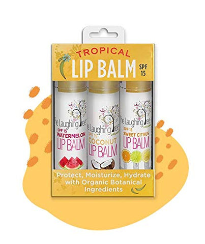 Tropical Organic Lip Balm Trio with SPF-15
