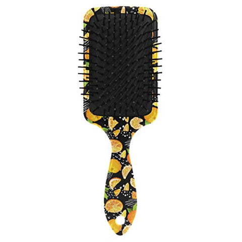 Linomo Hair Brush Fruit Orange Pattern Air Cushion Massage Comb for Women Kids, Nylon Brush for Wet Dry Curly Hair