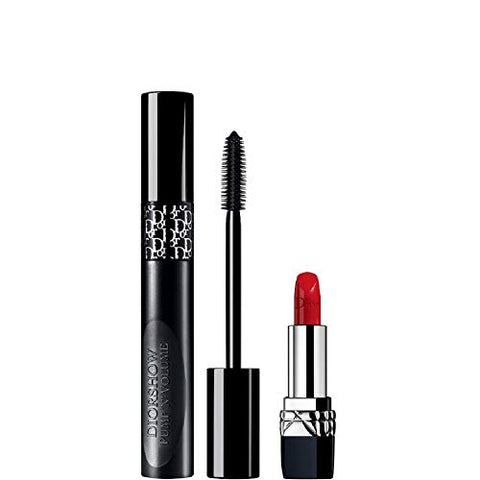 Christian Dior Diorshow Pump 'N' Volume HD Set The Spectacular Catwalk Look - Pump 'N' Volume HD Mascara and Mini Rouge Dior 999