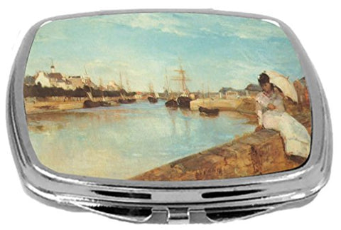 Rikki Knight Compact Mirror, Berthe Morisot Art The Port of Lorient, 3 Ounce