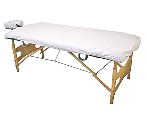 100 Pack Disposable Fitted Massage Table Sheets Heavy Duty Bed Cover (Standard)