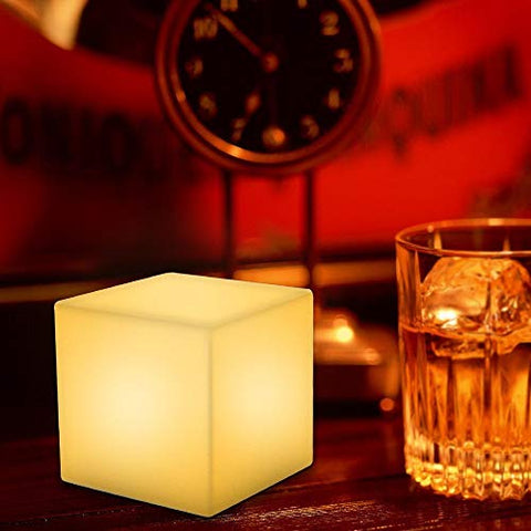 Paddia Waterproof Mood Led Night Light for Kids Mood Light Cube with Remote Control 16 RGB Colour 4 Modes Bedside Lamp for Children Bedroom/Garden/Party/Pool/Pond Side Decoration (Size : 151515CM)