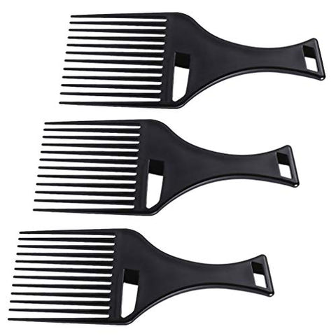 Minkissy 3pcs Barber Comb Afro Comb Hair Pick Comb Hairdressing Comb Styling Tool for Natural Curly Hair
