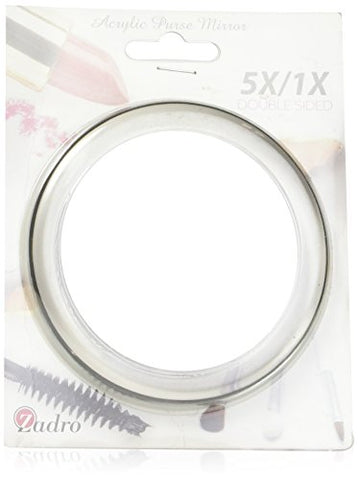Zadro 5x Two-Sided Acrylic Compact Mirror, 4-Inch, Clear