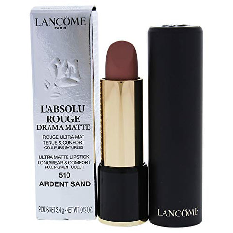 Lancome Labsolu Rouge Drama Matte Lipstick, 510 Ardent Sand, 0.12 Ounce