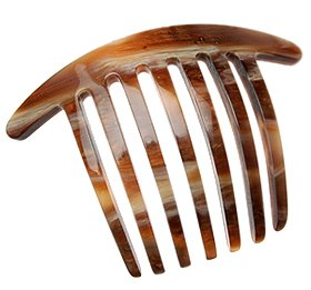 France Luxe Mini French Twist Comb - Caramel Horn