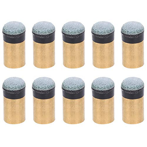 VGEBY 10Pcs/Bag Billiard Club Tips, Slip On Pool Cue Tips Pool Ball Cue Nine Balls Club ScrewTips Replacement (12MM)