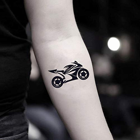 Motorcycle Temporary Fake Tattoo Sticker (Set of 2) - www.ohmytat.com