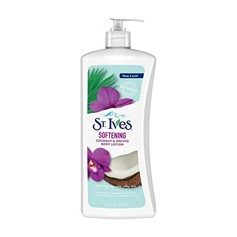 St. Ives Softening Body Lotion Coconut & Orchid Extract 21 oz (Pack of 3)