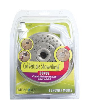 Rinse Ace Showerhead Convertible, Handheld 4 Setting 2