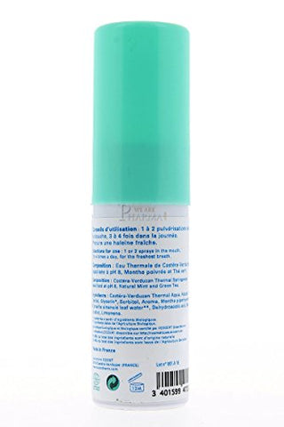 Buccotherm Natural Mint Bio Mouth Spray for Fresh Breath with Thermal Water 0.5 oz