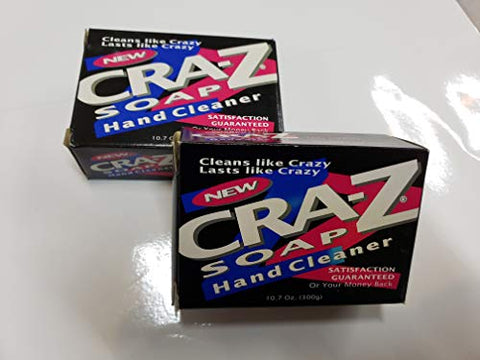 Cra-Z Soap Heavy Duty Hand Cleaner Powerful All Purpose Soap 10.7 Oz. 300g Bars,Twin-Pack with Nail Brush