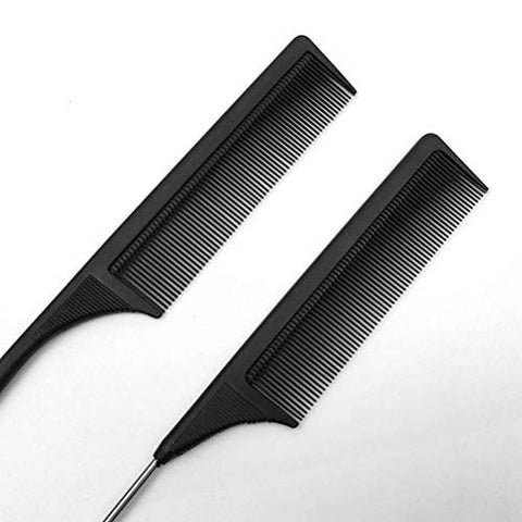 Minkissy Styling Hair Comb Set Rat Tail Hair Comb Hairdressing Comb for Home Salon 3Pcs