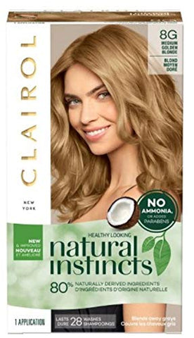Clairol Natural Instincts Hair Color, [8 G] Medium Golden Blonde 1 Each (Pack Of 3)