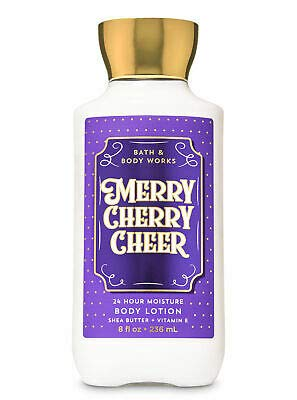 Bath and Body Works MERRY CHERRY CHEER - Deluxe Gift Set Body Lotion - Body Cream - Fragrance Mist and Shower Gel - Full Size