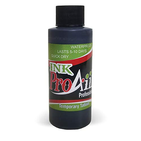 Body Paint - ProAiir Temporary Tattoo Ink - 4.2 oz (120ml) Black