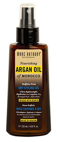 Marc Anthony Argan Oil Dry Styling Oil 4.05 Ounce Pump (120ml) (6 Pack)