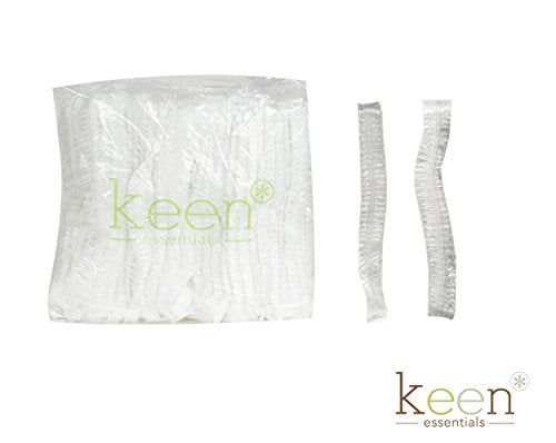 KEEN Shower Cap, Clear Cap, disposal cap, Hair Cap, 1000 pcs per carton (One Carton)