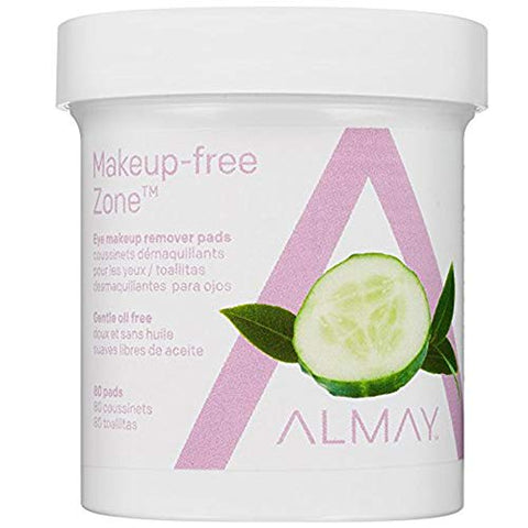 Almay Eye Makeup Remover Pads, Oil-Free 80 ea (Pack of 5)