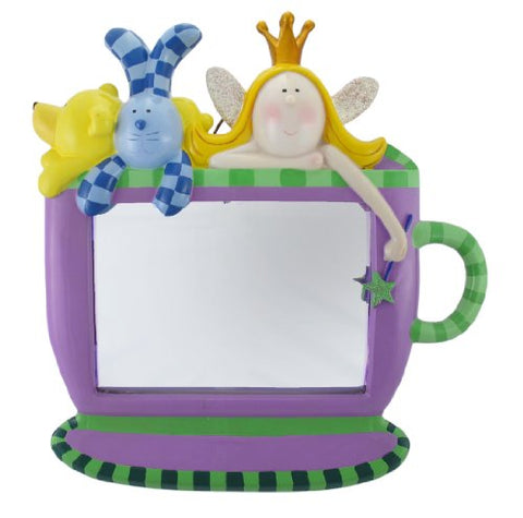 Things2Die4 Purple and Green Princess and Friends Tea Cup Mirror