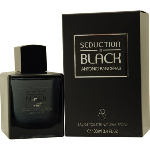 Seduction In Black By Antonio Banderas For Men Eau De Toilette Spray, 3.4 Oz