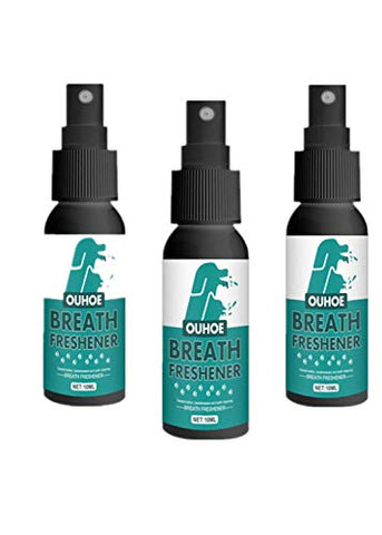 Dog Breath Freshener,Bad Breath Treatment for Dogs,Tooth Cleaning Spray Bad Breath Eliminator without Brushing for Pets 3PCS