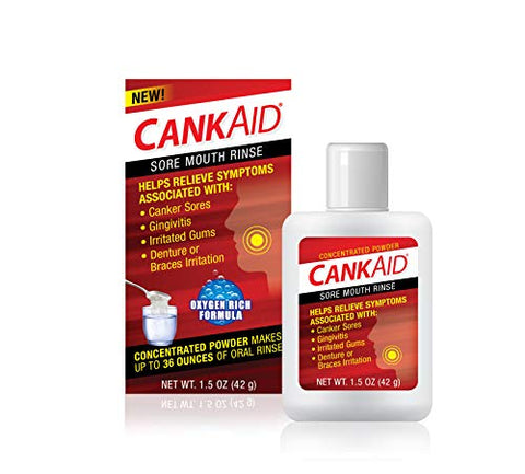 CankAid Mouth Rinse  Helps Relieve Canker Sores, Gingivitis, and Gum Irritation / Cleanse and Soothe Your Mouth / Concentrated Powder