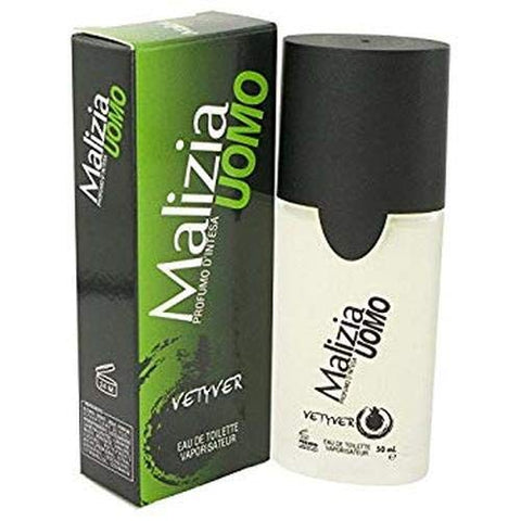 Vetyver Malizia Uomo Eau de Toilette Spray for Men, 1.7 Ounce