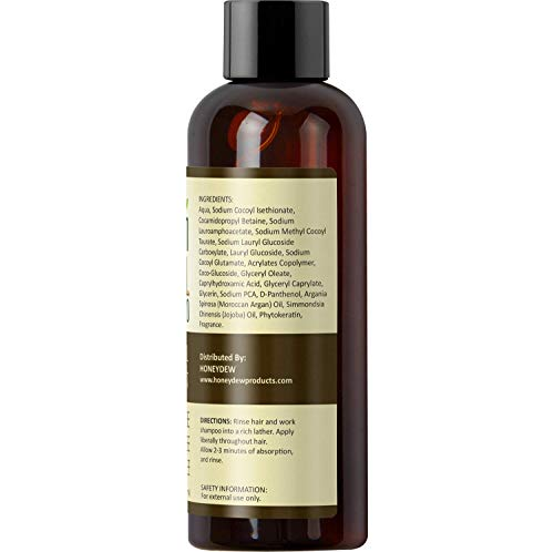 Moroccan Argan Oil Shampoo For Men And Women â?? Sulfate Free With Organic Argan And Jojoba â?? Colo