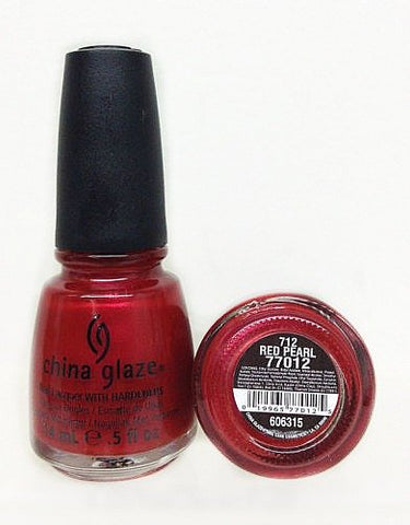 China Glaze Nail Polish, Red Pearl, 0.5 Fluid Ounce