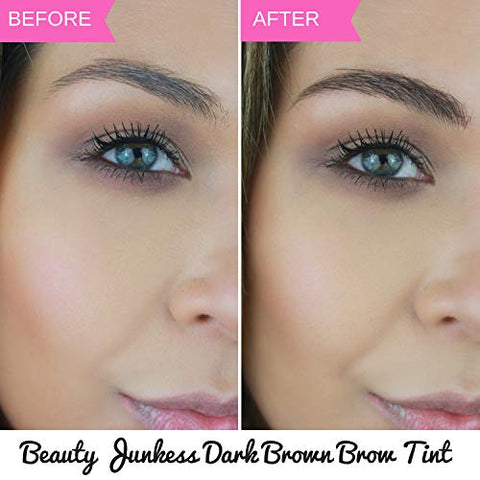 Eyebrow Gel Mascara Tint Auburn   Eye Brow Makeup, Tinted Color Browgel Filler For Natural Brows Sha