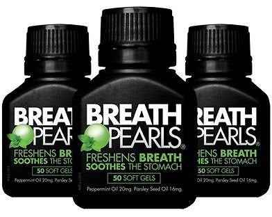 200 Softgels Breath Pearls Breath Freshener (Peppermint & Parsley Seed Oil)