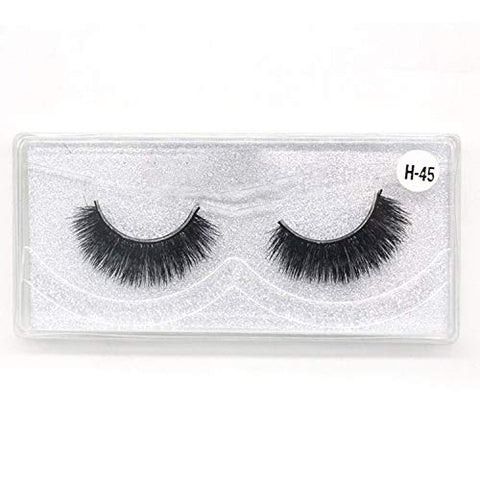 wholesale lots bulk 3d natural mink wholesale lashes 10 pairs false eyelashes black lashes in 1 box full strip 10 Pairs/Pack,10 pairs of H45