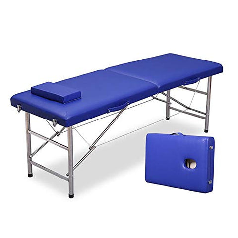 LJHA Folding Massage Bed, Parallel Bar Portable Home Physiotherapy Bed Portable Beauty Bed With Headrest massage table (color : C)
