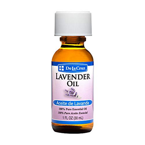 De La Cruz Pure Lavender Essential Oil, Steam-Distilled, Bottled in USA 1 FL. OZ.