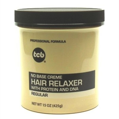 Tcb Hair Relaxer No Base Creme 15 Ounce Regular Jar (443ml) (6 Pack)