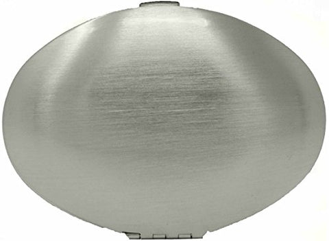 Folding Compact Pocket Makeup Mirror Double Sided (5x magnification + 1x magnification) (Brushed Silver)