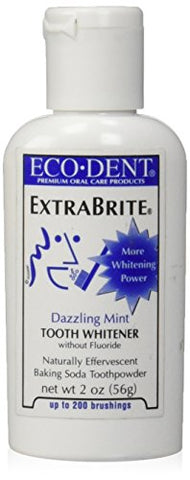 Eco Dent Extra Brite Baking Soda Toothpowder, Dazzling Mint 2 Oz
