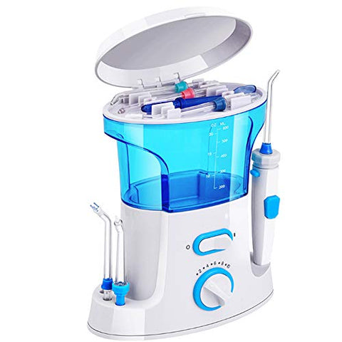 EMGOD Electric Red Teeth, Portable Tooth Cleaning Washer 360 Rotating Nozzle Adjustable Pressure Suitable for Children Pregnant Women