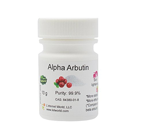 Pure Alpha-Arbutin Powder, 10 g, Quality Guaranteed! Good for Skin Lightening
