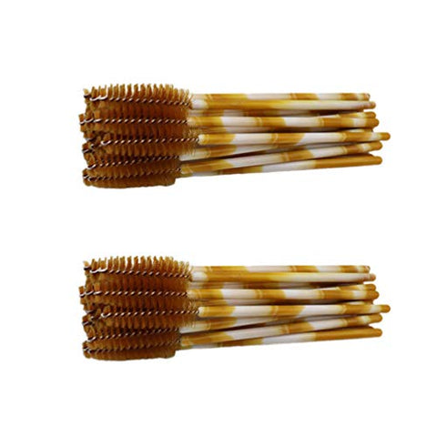 Beaupretty 100pcs Eyelash Brushes Cosmetic Nylon Mascara Eyebrow Applicator Comb Stick Makeup Tool for Women Girls