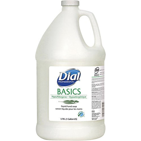 Dial Corporation Hypoallergenic Liquid Soap, 1 Gal., 4/Ct, White