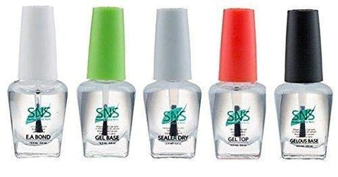 SNS Gel dipping powder (set of 5) Gel Base, Gel top, EA Bond, Sealer Dry, Gelous Base