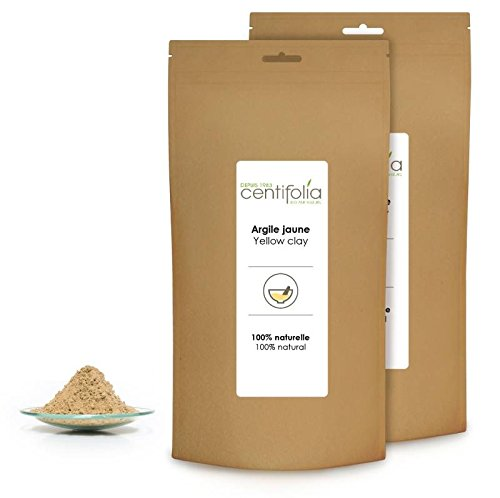 CENTIFOLIA - Yellow clay - Pure - Cleanses and purifies - Facial care - normal or oily skin - Exfoliating, smoothing, toning - 250 gr