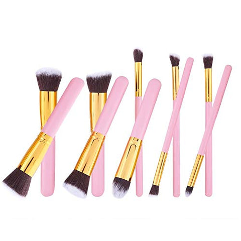 10Pcs Cosmetic Brushes Set Portable for Salon