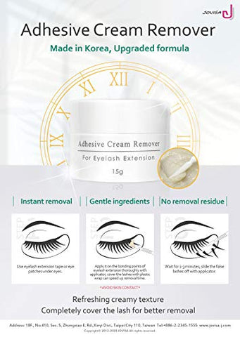 JOVISA 2.0 Rapid Eyelash Adhesive Remover Cream Lash Remover Instant Faster For Sensitive Skin 15g