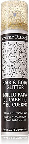 Jerome Russell Hair and Body Glitter Spray, Gold 2.2 oz (Pack of 12)