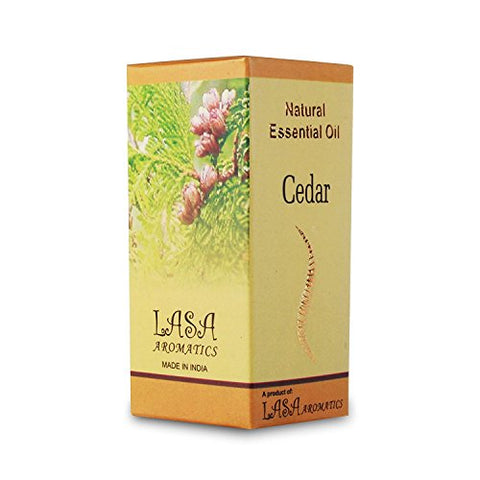 Lasa Aromatics Cedar Essential Oils 100% Pure And Natural 10ml