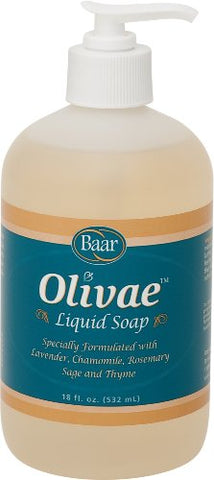 Olivae Liquid Hand Soap and Facial Cleanser, 18 Ounces