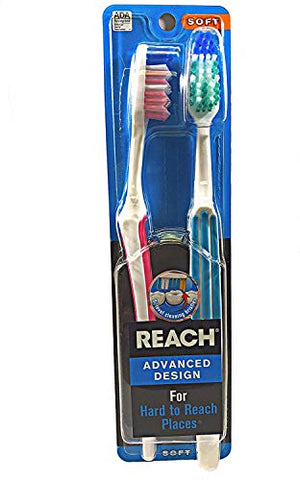 REACH Advanced Design Toothbrushes Soft Full Head Value Pack 2 ea
